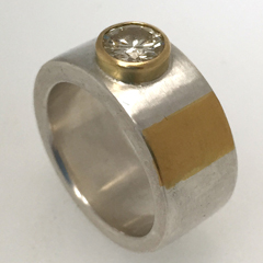 Bespoke Understatement Diamond Ring by Vicky Forrester