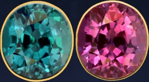 beautiful colour changing Alexandrite